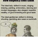 How Regency men think