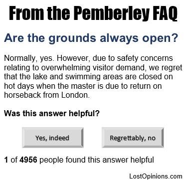 Pemberley FAQ