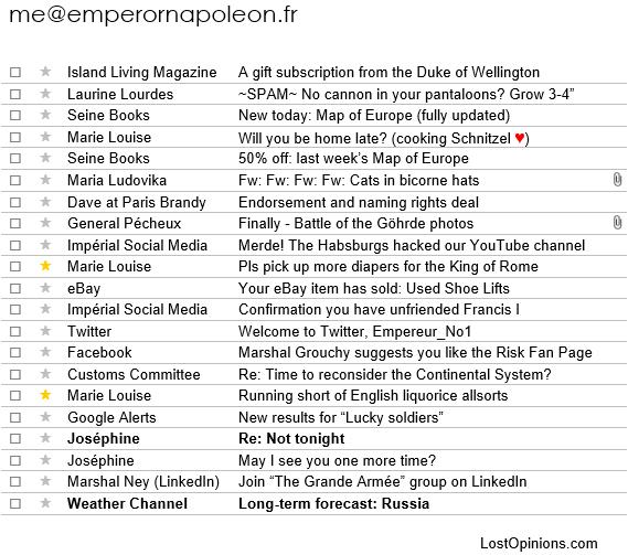 Napoleon's emails