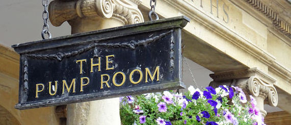 Bath pump room sign