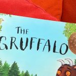 Gruffalo book on a sofa