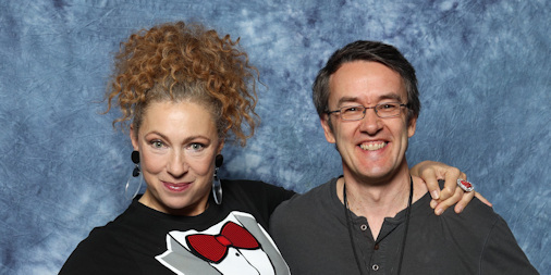 Alex Kingston and Mark Brownlow